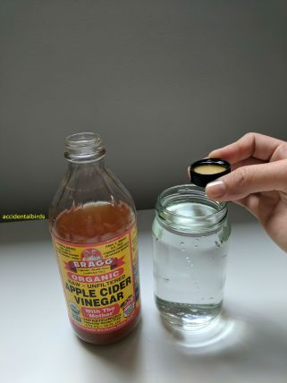 Water-Only Hair Care-How to dilute ACV apple cider vinegar
